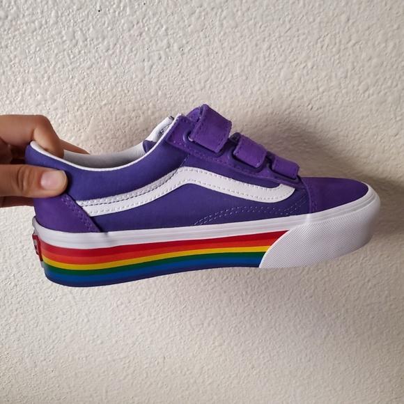 Vans Old Skool Velcro Purple Rainbow